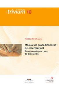 portada de Manual de procedimientos de enfermería. Programa de prácticas de simulación II