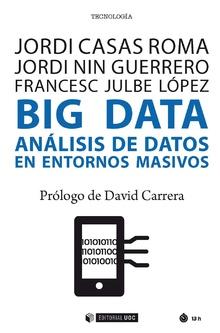 """Portada del libro """"Big Data. Análisis de datos en entornos masivos"""", publicado por Editorial UOC."""