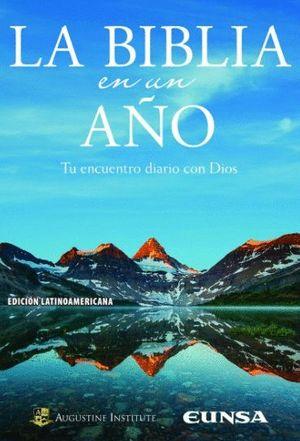 """Portada de """"La Biblia en un año. Tu encuentro diario con Dios"""", publicada por EUNSA."""