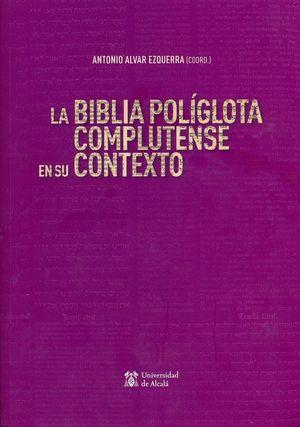 """Portada del libro """"La Biblia Políglota Complutense en su contexto"""", publicado por la Universidad de Alcalá."""