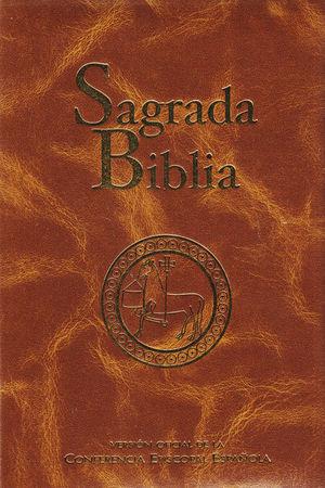Portada de la Sagrada Biblia. Versión Oficial de la Conferencia Episcopal.