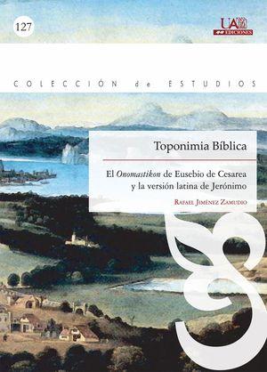 """Portada del libro """"Toponimia Bíblica"""", publicado por la Universidad Autónoma de Madrid."""