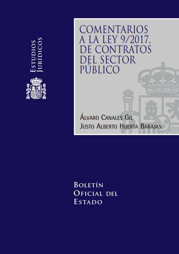 """Portada del libro """"Comentarios a la Ley 9/2017 de Contratos del sector público"""", publicado por Editorial BOE."""