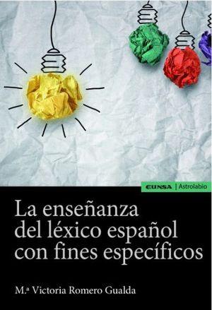 """Portada del libro """"La enseñanza del léxico español con fines específicos"""", publicado por EUNSA."""