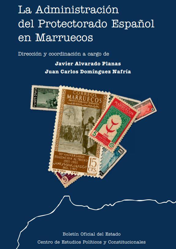 """Portada del libro """"La Administración del Protectorado Español en Marruecos"""", publicado por el BOE ."""