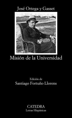"""Portada del libro """"Misión de la Universidad"""", de José Ortega y Gasset."""