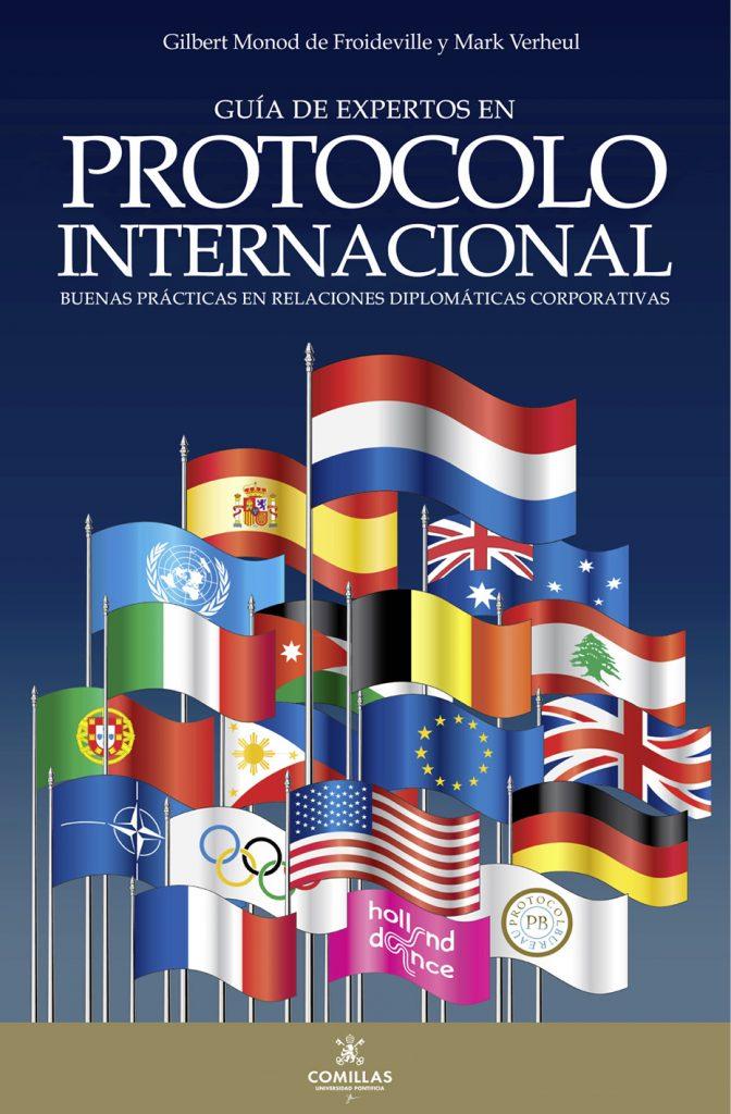 """Portada del libro """"Guía de expertos en protocolo internacional""""."""