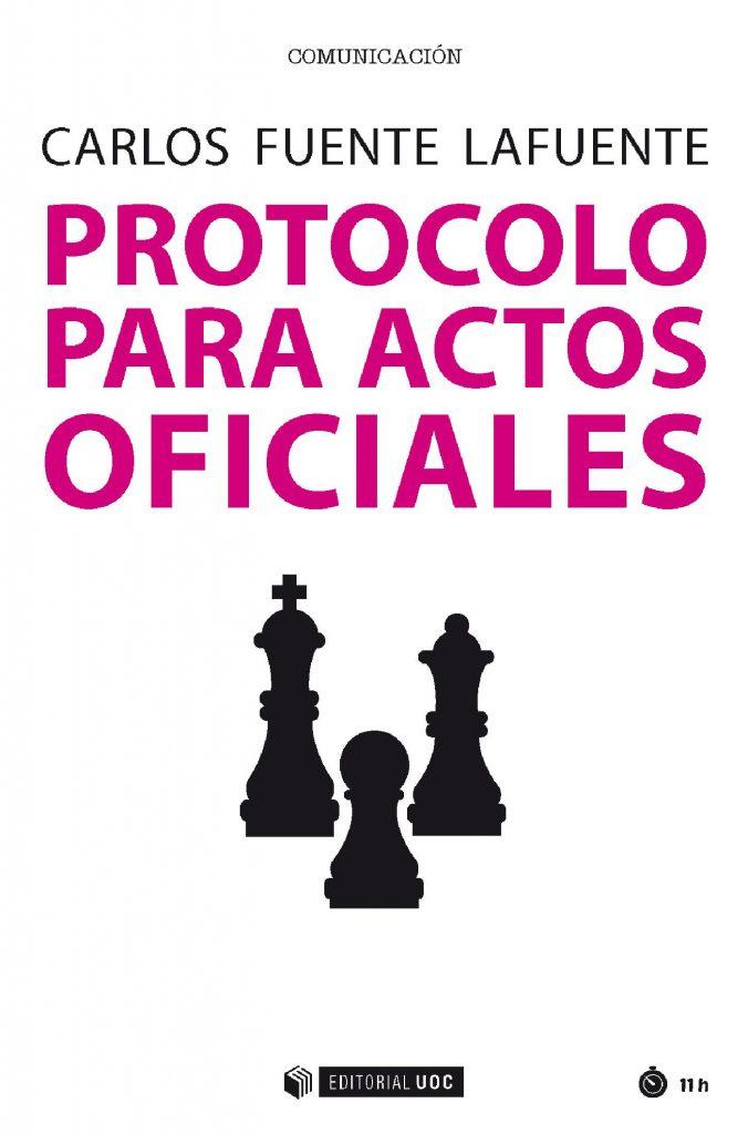 """Portada del libro """"Protocolo para actos oficiales""""."""