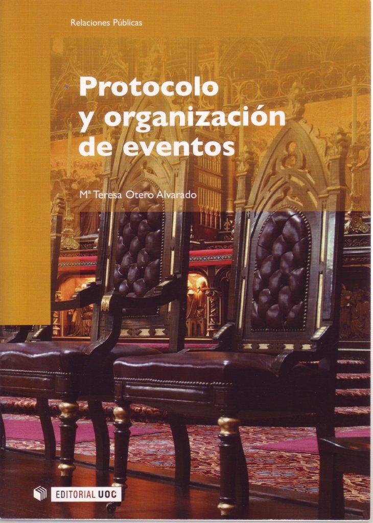 """Portada del libro """"Protocolo y organización de eventos""""."""