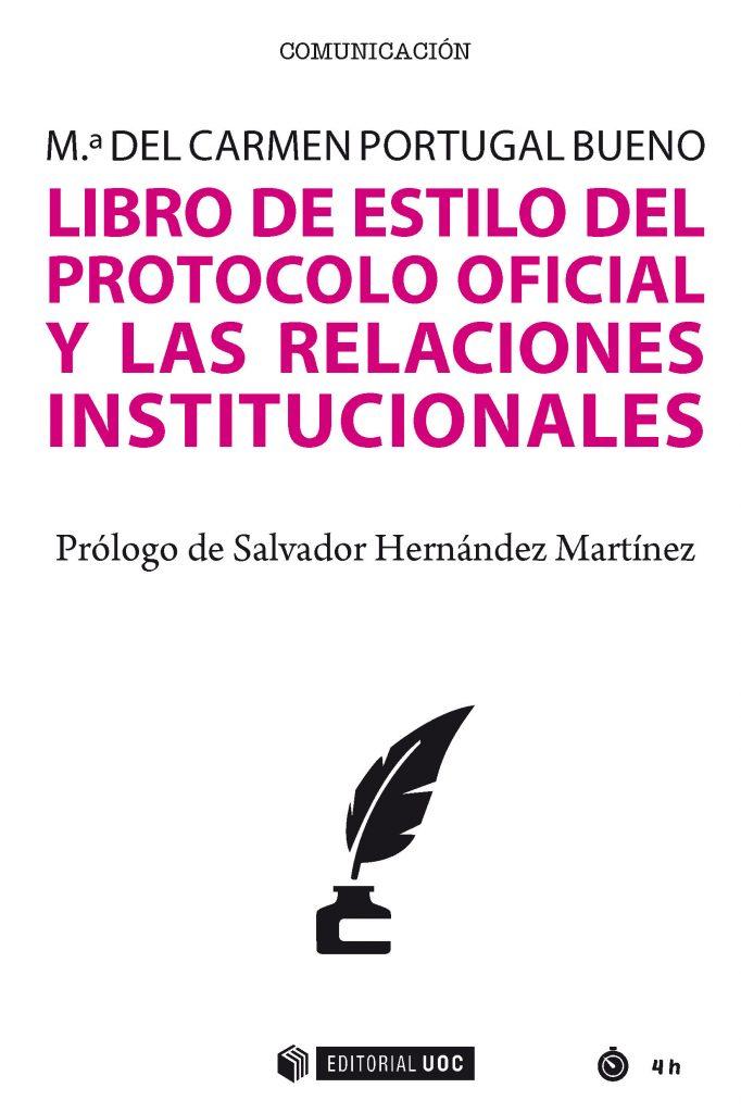 """Portada del libro """"Libro de estilo del protocolo oficial y las relaciones institucionales""""."""