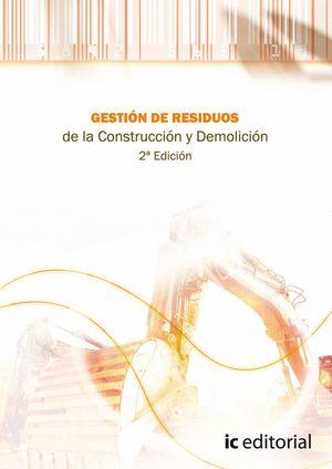 """Portada del libro """"Gestión de residuos de la construcción y demolición""""."""