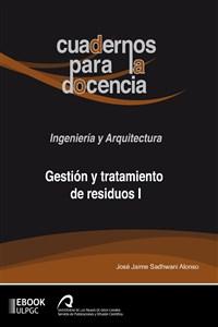 """Portada del libro """"Gestión y tratamiento de residuos I"""", publicado por la Universidad de Las Palmas de Gran Canaria."""