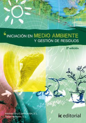 """Portada el libro """"Iniciación en medio ambiente y gestión de residuos""""."""