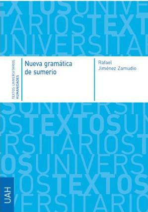 """Portada del libro """"Nueva Gramática del sumerio""""."""