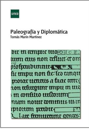 """Portada del libro """"Paleografía y Diplomática""""."""
