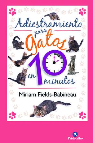 """Portada del libro """"Adiestramiento para gatos en 10 minutos"""""""