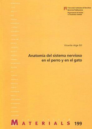 """Portada del libro """"Anatomía del sistema nervioso en el perro y en el gato"""", publicado por la Universitat Autònoma de Barcelona."""