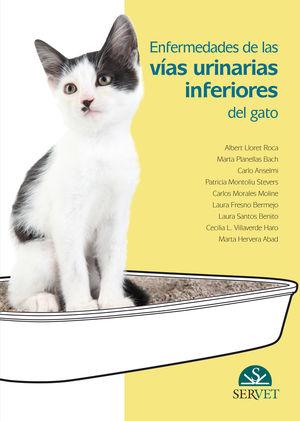 """Portada del libro """"Enfermedades de las vías urinarias inferiores del gato""""."""