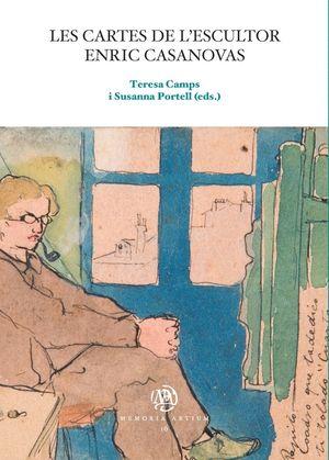 "Portadas de ""Les cartes de l'escultor Enric Casanovas"", publicadas por la Universitat de Barcelona."
