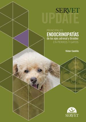 """Portada del libro """"Principales endocrinopatías de los ejes adrenal y tiroideo en perros y gatos""""."""