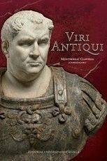 """Portada del libro """"Viri Antiqui"""", publicado por la Universidad de Sevilla."""