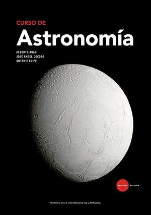 """Portada del libro """"Curso de astronomía"""", publicado por la Universidad de Zaragoza."""