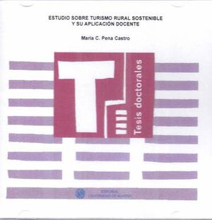 Portada del libro Estudio sobre turismo rural sostenible y su aplicación docente, publicado por la Universidad de Almería.
