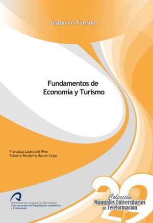 Portada del libro Fundamentos de economía y turismo, publicado por la Universidad de Las Palmas de Gran Canaria.