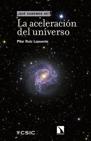 """Portada del libro """"La aceleración del universo"""", publicado por Editorial CSIC y Catarata."""