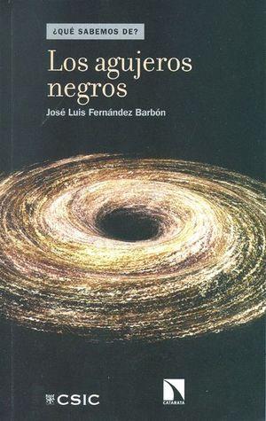 """Portada del libro """"Los agujeros negros"""", publicado por Editorial CSIC y Catarata."""