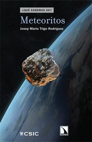 """Portada del libro """"Meteoritos"""", publicado por Editorial CSIC y Catarata."""