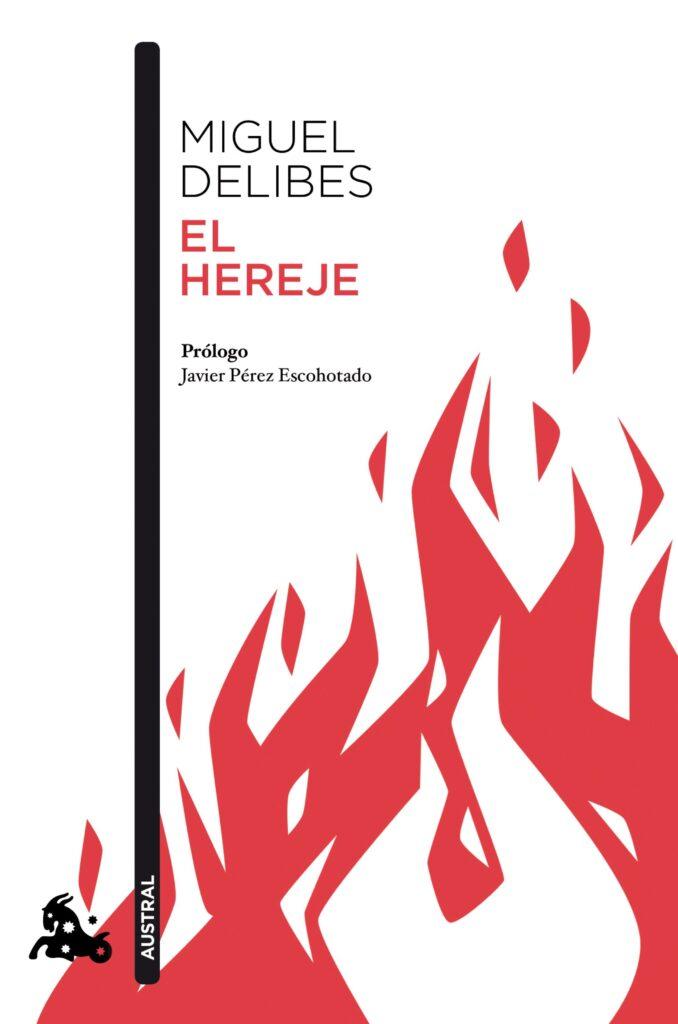 Portada del libro El hereje (1998), de Miguel Delibes.