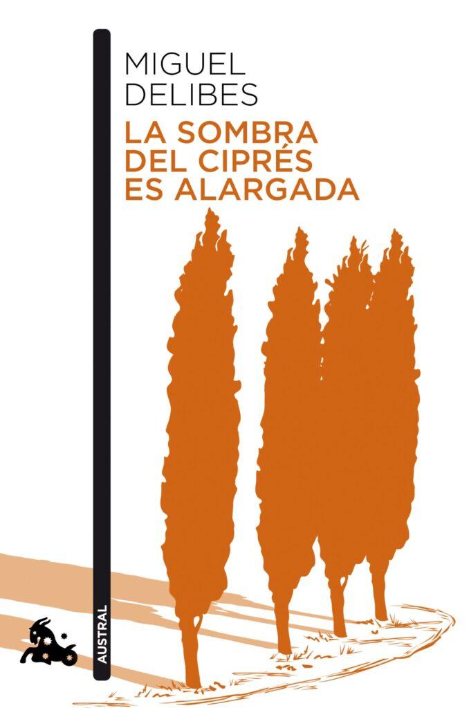 Portada del libro La sombra del ciprés es alargada (1948), de Miguel Delibes