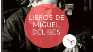 Imagen de Miguel Delibes escribiendo. Sobre él, el logo de Unebook y el título del post
