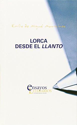 Portada del libro Lorca desde el llanto, publicado por la Universidad de Valladolid.