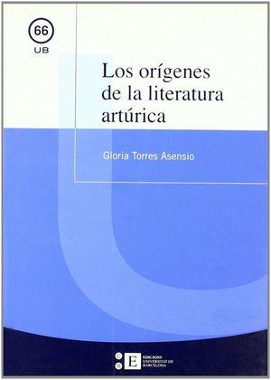 Cubierta del libro Los orígenes de la literatura artúrica, publicado por la Universitat de Barcelona.