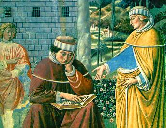 Ilustración sobre el origen de la lectura