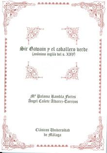 Cubierta del libro Sir Gawain y el caballero verde, publicado por la Universidad de Málaga.