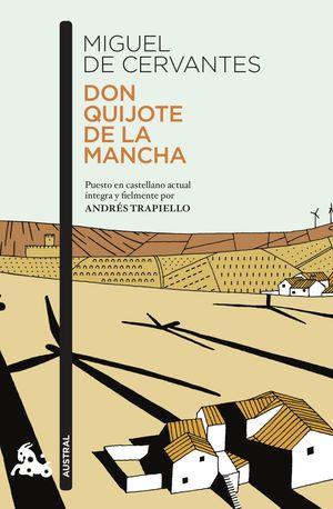 Portada del libro Don Quijote de La Mancha. Puesto en castellano actual íntegra y fielmente por Andrés Trapiello.