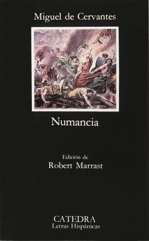 Portada del libro El cerco de Numancia, de Miguel de Cervantes.