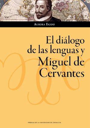 Portada del libro El diálogo de las lenguas y Miguel de Cervantes, publicado por Prensas de la Universidad de Zaragoza.