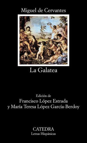 Portada del libro La Galatea, de Miguel de Cervantes.