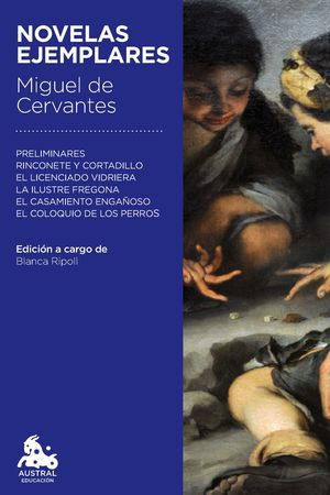 Portada del libro Novelas ejemplares, de Miguel de Cervantes.