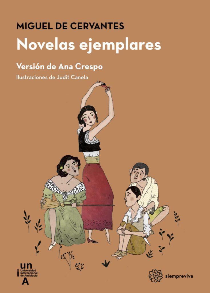 Portada del libro Novelas Ejemplares, de Miguel de Cervantes (lectura fácil) publicado por la UNIA