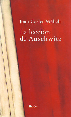 Portada del libro La lección de Auschwitz.