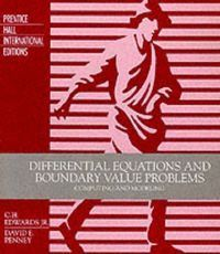 DIFFERENTIAL EQUATIONS BOUNDARY VALUE