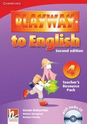 PLAYWAY TO ENGLISH LEVEL 4 TEACHER'S RESOURCE PACK WITH AUDIO CD 2ND EDITION