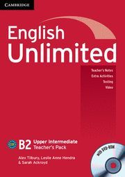 ENGLISH UNLIMITED UPPER INTERMEDIATE TEACHER´S PACK (TEACHER´S BOOK WITH DVD-ROM)