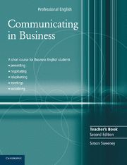 COMMUNICATING IN BUSINESS TEACHER'S BOOK 2ND EDITION