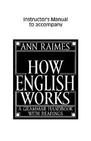 HOW ENGLISH WORKS INSTRUCTOR´S MANUAL